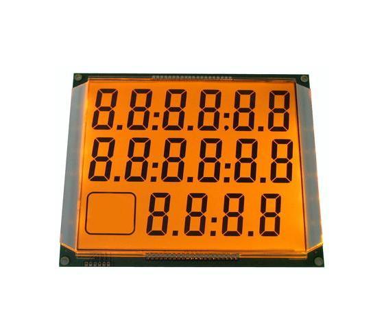 带橙色LED背光的LCD显示屏