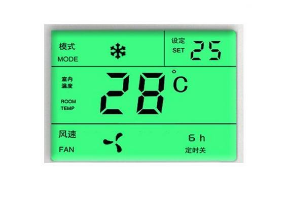 高端空调专用绿色背光LCD液晶屏