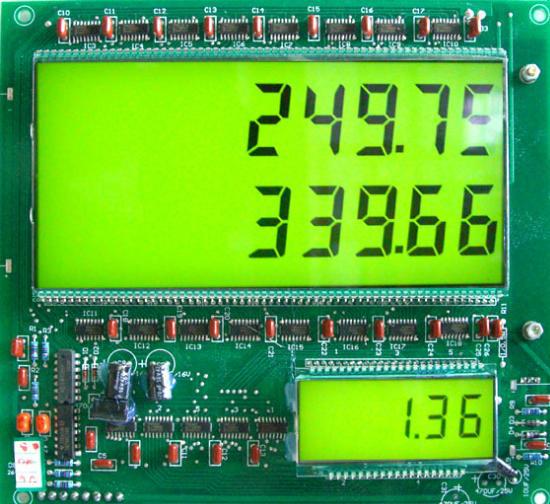 绿底黑色字体液晶屏(带LED背光源)