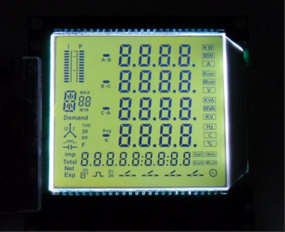 白底黑色字体显示屏(带LED背光源)