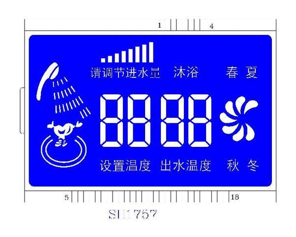 家用热水器专用LCD液晶屏