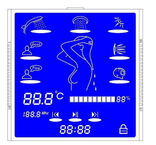带LCD显示屏热水器专用液晶显示屏