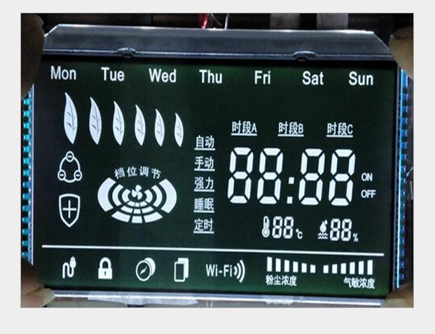 冷风系统专用黑膜LCD液晶显示屏
