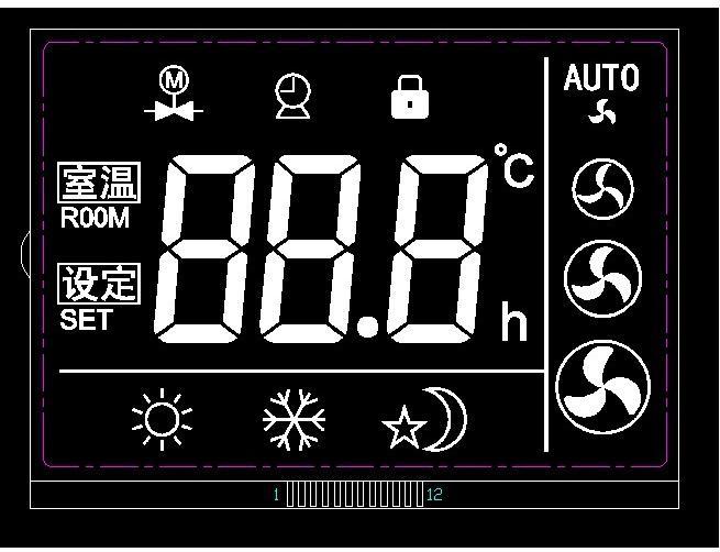 温控黑膜LCD液晶屏