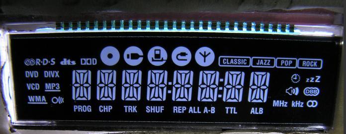 功放机液晶屏-黑膜LCD产品