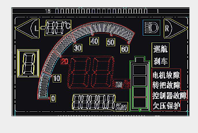 里程表LCD液晶屏专业生产厂家